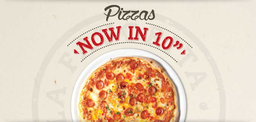 10 Inch Pizzas Now Available at Vittoria Group Restaurants in Edinburgh
