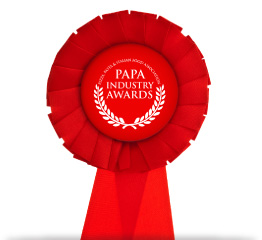 PAPA Industry Awards Small Rosette Red