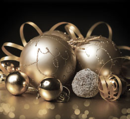 Gold Christmas Baubles Small