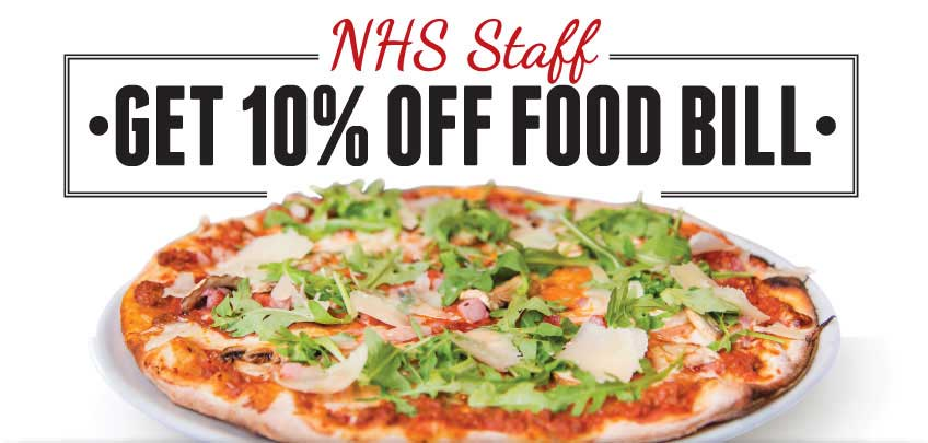 Vittoria Group NHS Staff 10% off food bill promotion