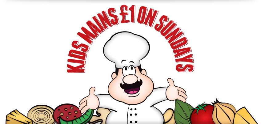 Vittoria Group £1 Kids Mains on Sundays Cartoon