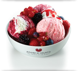 Vittoria Italian Gelato with Summer Fruits