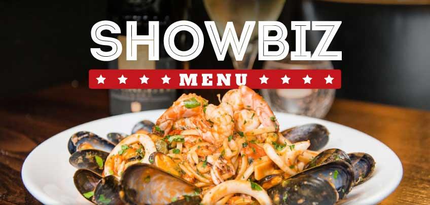 Vittoria Group Restaurants Showbiz Menu