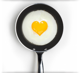Heart Egg in Frying Pan