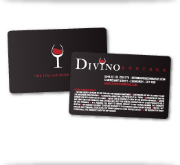 Divino Enoteca Wine Bar Cards