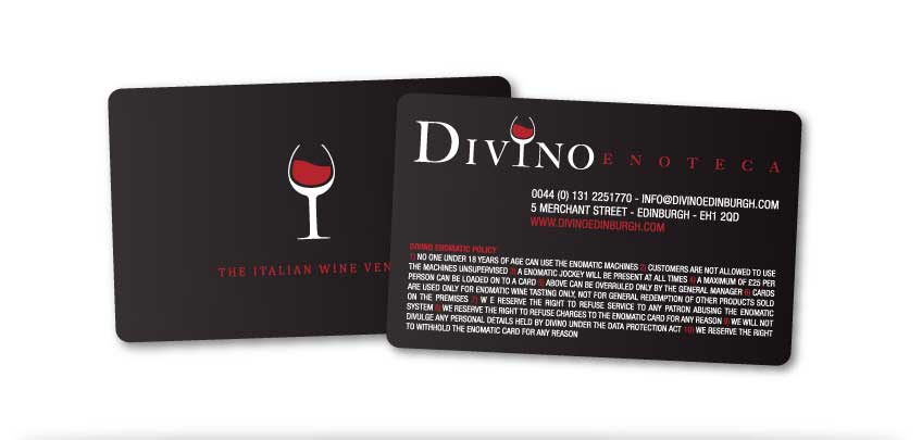 Divino Enoteca Edinburgh Wine Bar Business Card