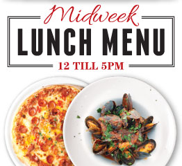 Vittoria Group Restaurants Midweek Lunch Menu