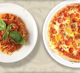Mix and match Pizza and Pasta