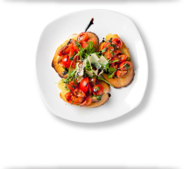 Tomato and Bruschetta Starter