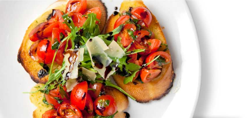 Bruschetta, Tomato and Balsamic Vinegar Starter